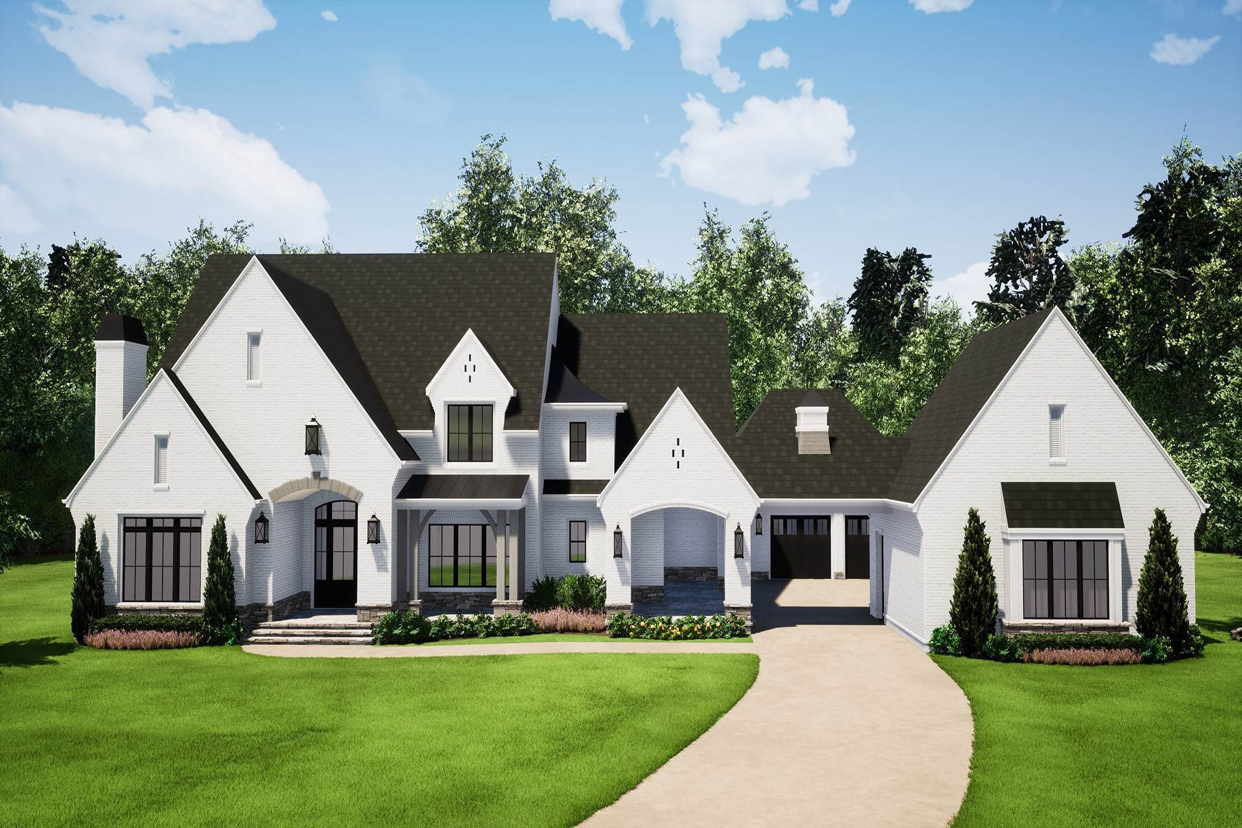 Single Family Homes for Active at Spectacular New Construction Overlooking Double Fairway 15994 Manor Club Drive Milton, Georgia 30004 United States