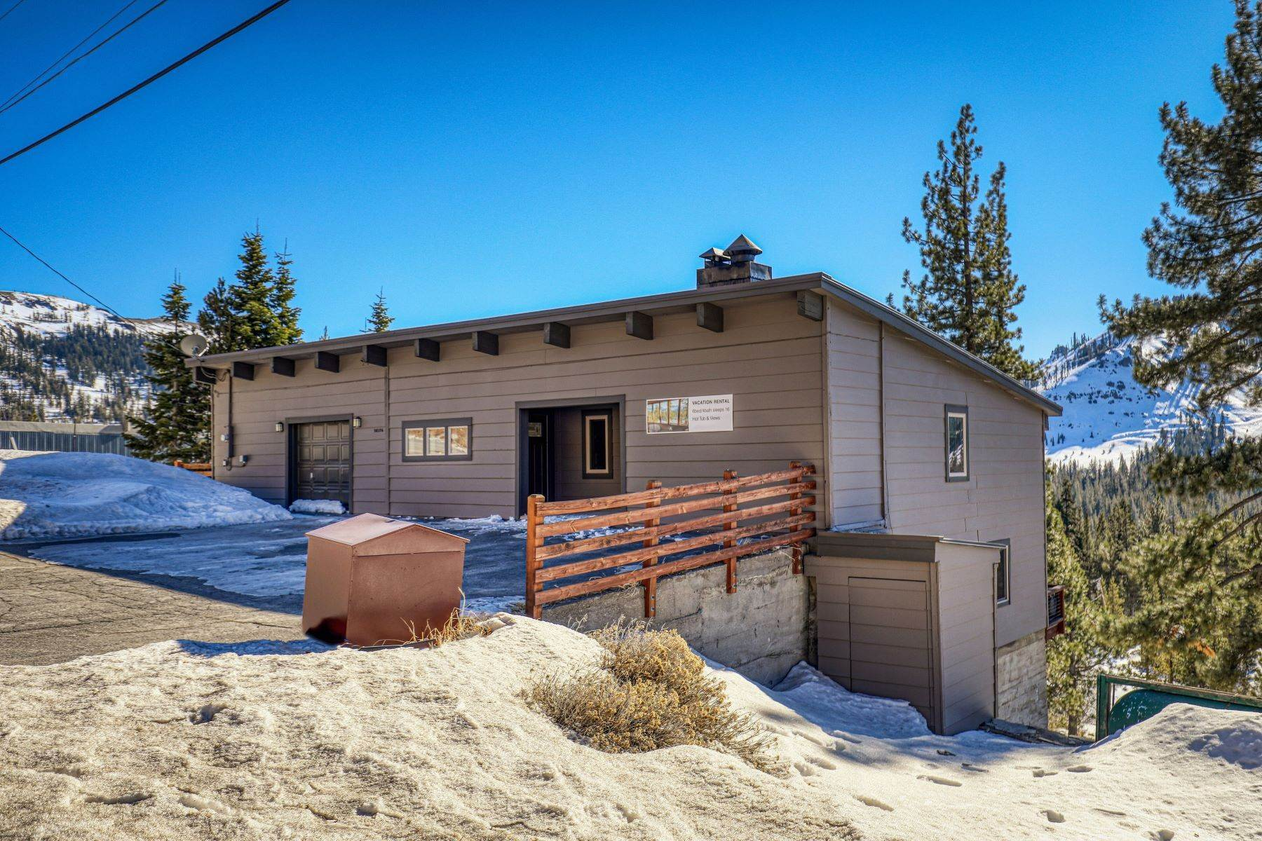 38. Single Family Homes for Active at Donner Summit Base Camp 58376 Donner Pass Road Norden, California 95724 United States