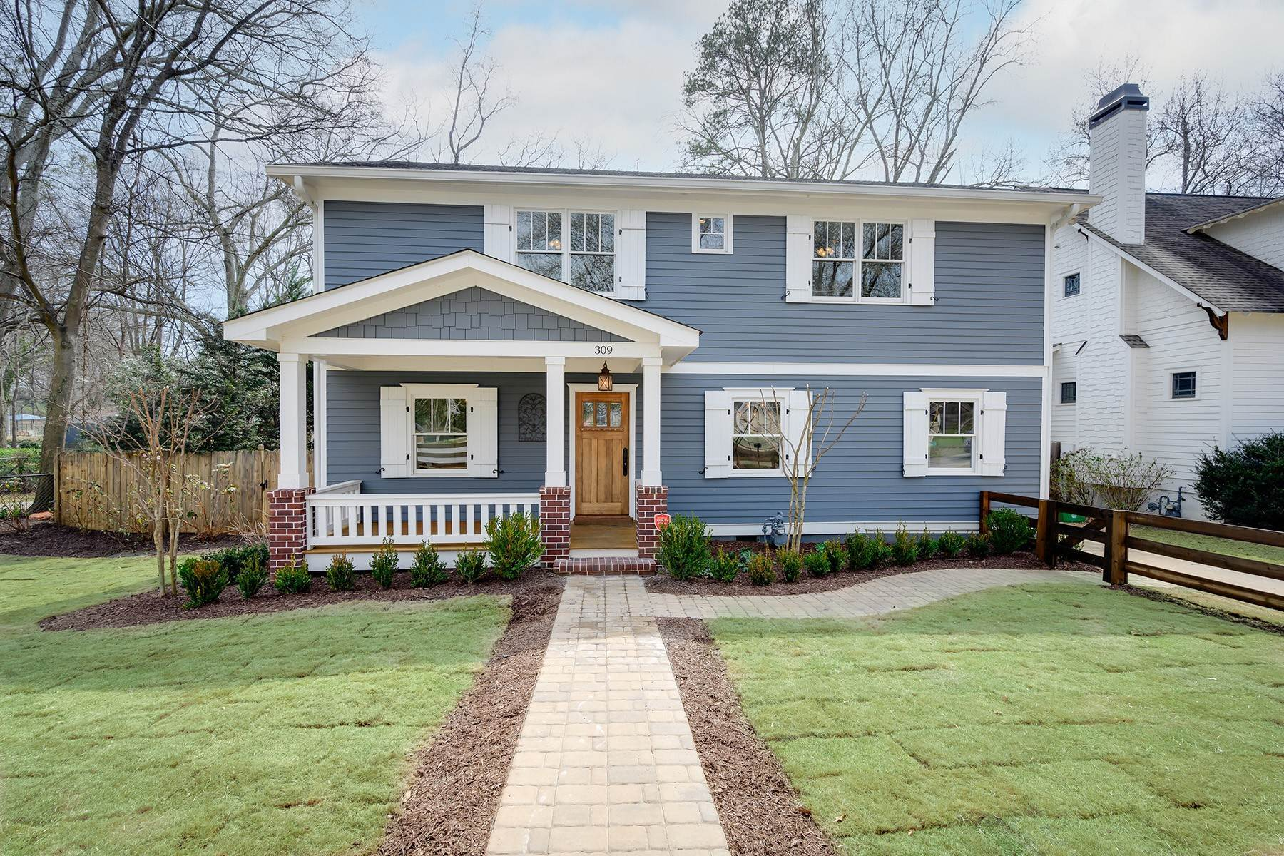 Single Family Homes for Active at End Unit With Green Views And Custom Features Galore. 309 Leyden Street Decatur, Georgia 30030 United States