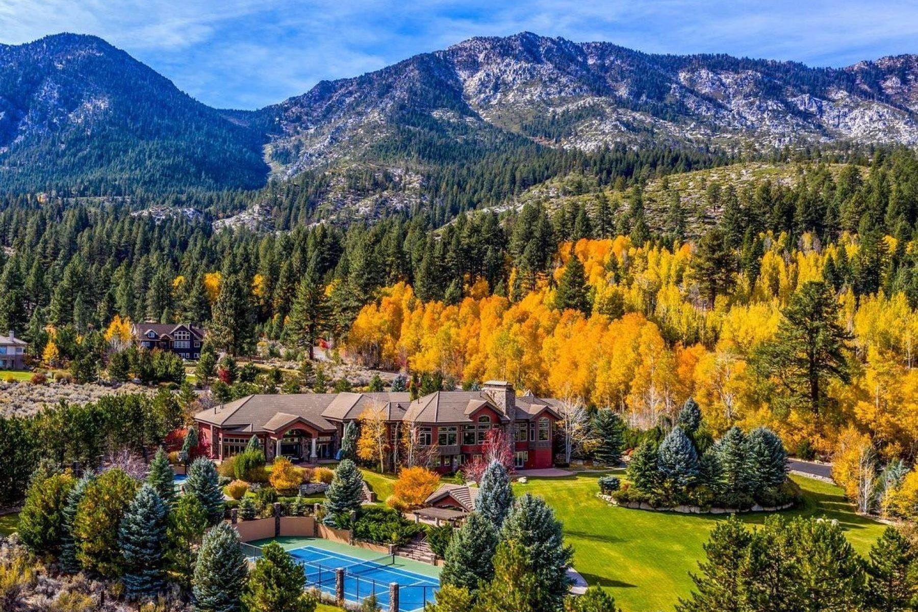 Single Family Homes 为 销售 在 Private Estate Near Lake Tahoe 263 Sierra Country Circle 加登维尔, 内华达州 89460 美国