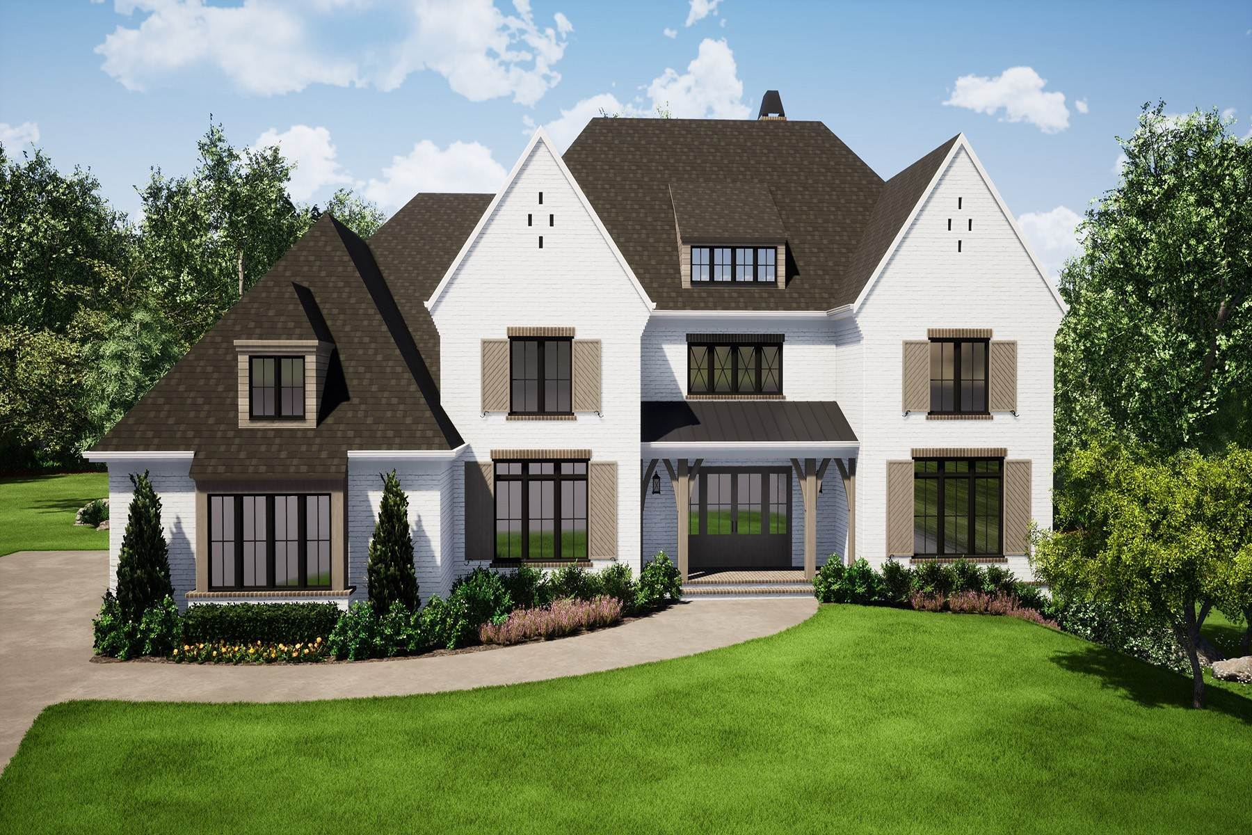 Single Family Homes for Active at Exquisite New Construction in Gated Milton Community 10240 Cedar Ridge Drive Milton, Georgia 30004 United States