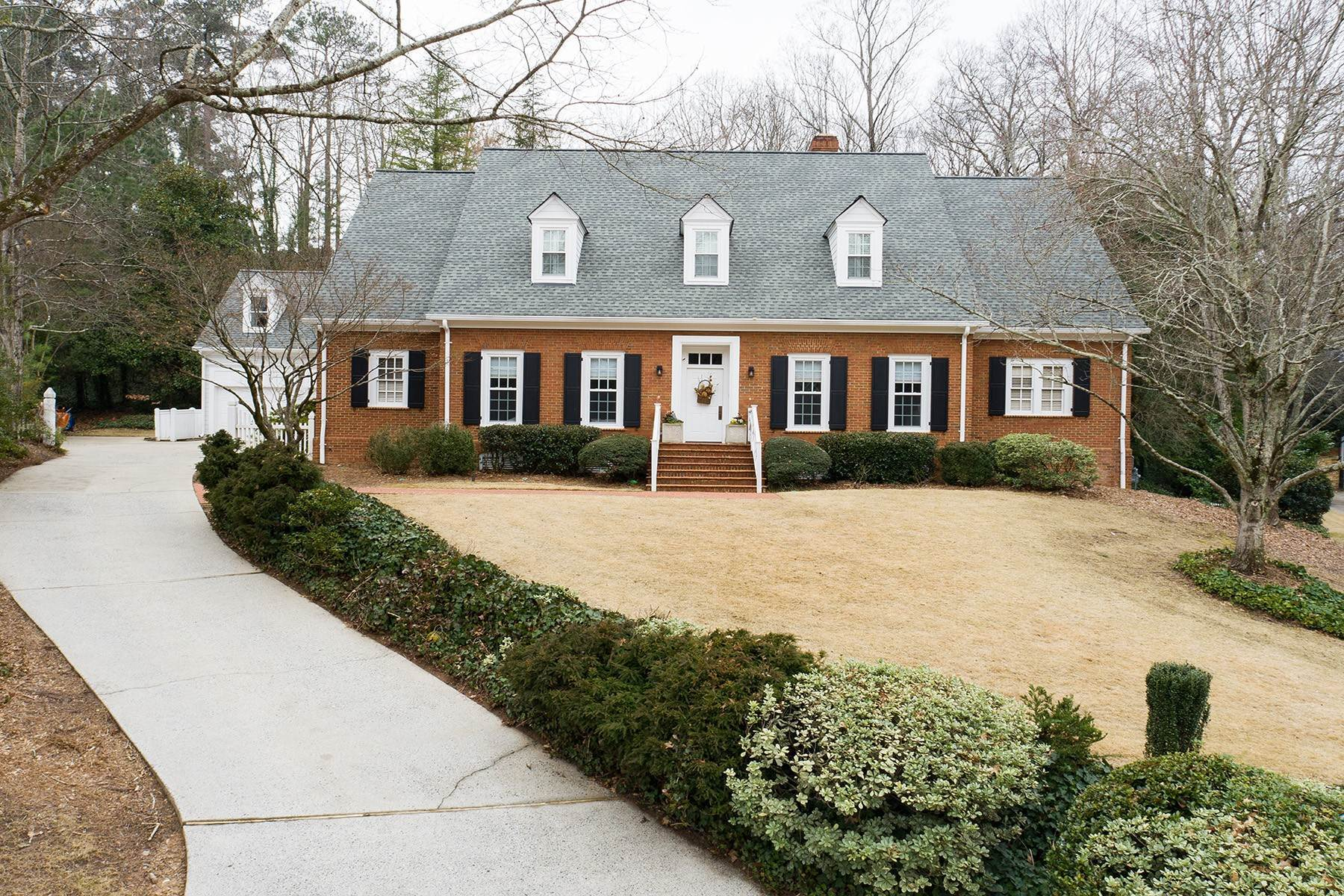 Single Family Homes for Active at Great Spring Offering - Handsome Goodsell Built Home on Quiet Cul-de-sac 60 Old Vermont Place Sandy Springs, Georgia 30328 United States