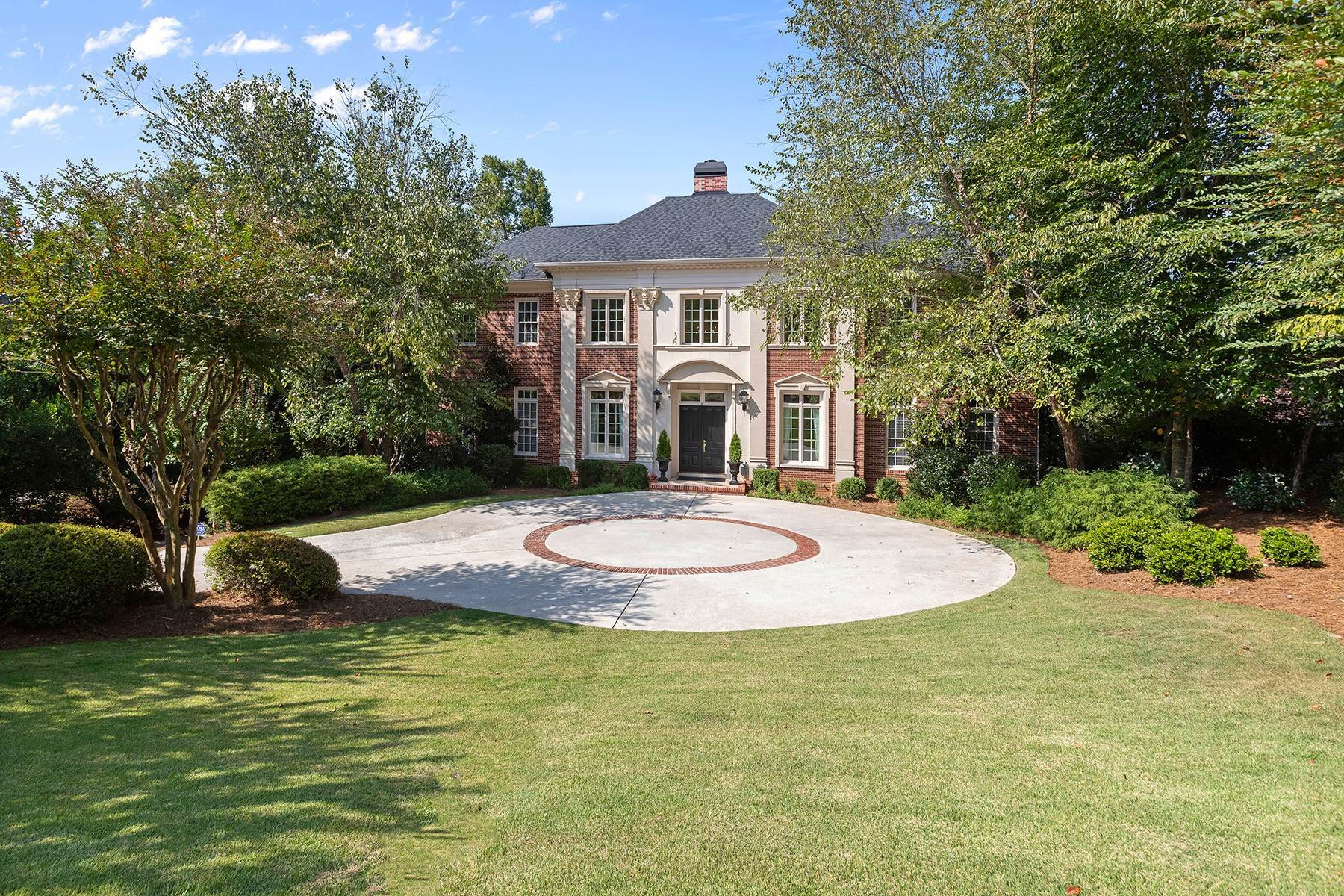 Single Family Homes for Active at Stunning Riverfront Home in Peachtree Corners Overlooking AAC Golf Course 3831 River Mansions Drive Peachtree Corners, Georgia 30096 United States