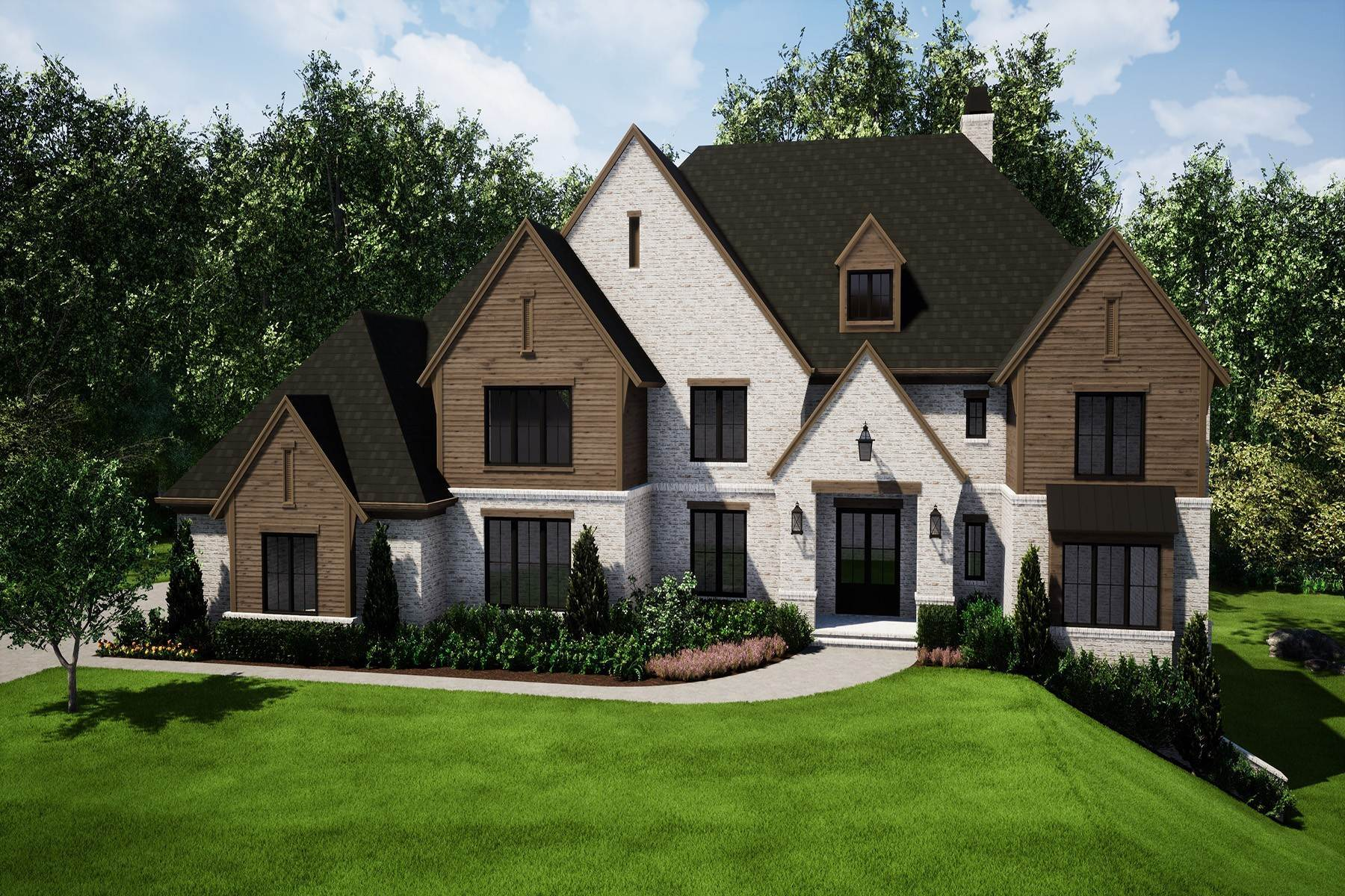 Single Family Homes for Active at New Construction Masterpiece in Gated Milton Neighborhood 10220 Cedar Ridge Drive Milton, Georgia 30004 United States