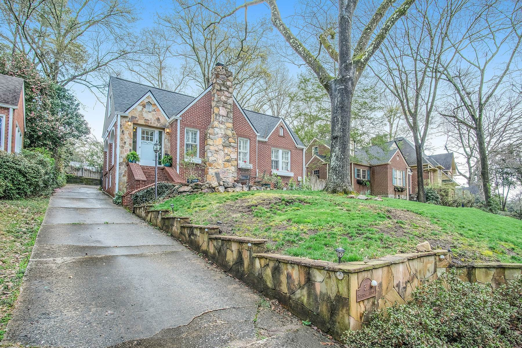 Single Family Homes for Active at Classic Intown Stone And Red Brick Tudor In The City Of Decatur 311 Glendale Avenue Decatur, Georgia 30030 United States