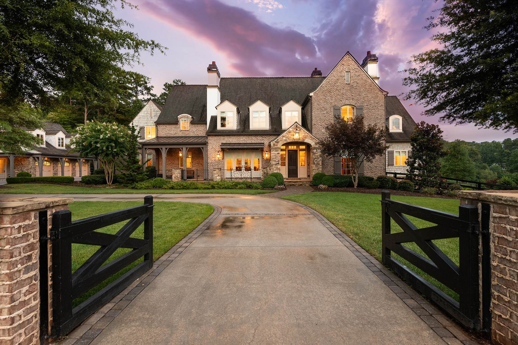Single Family Homes for Active at Stunning Custom Built European Masterpiece With French Country Accents 725 Cogdell Ridge Milton, Georgia 30004 United States