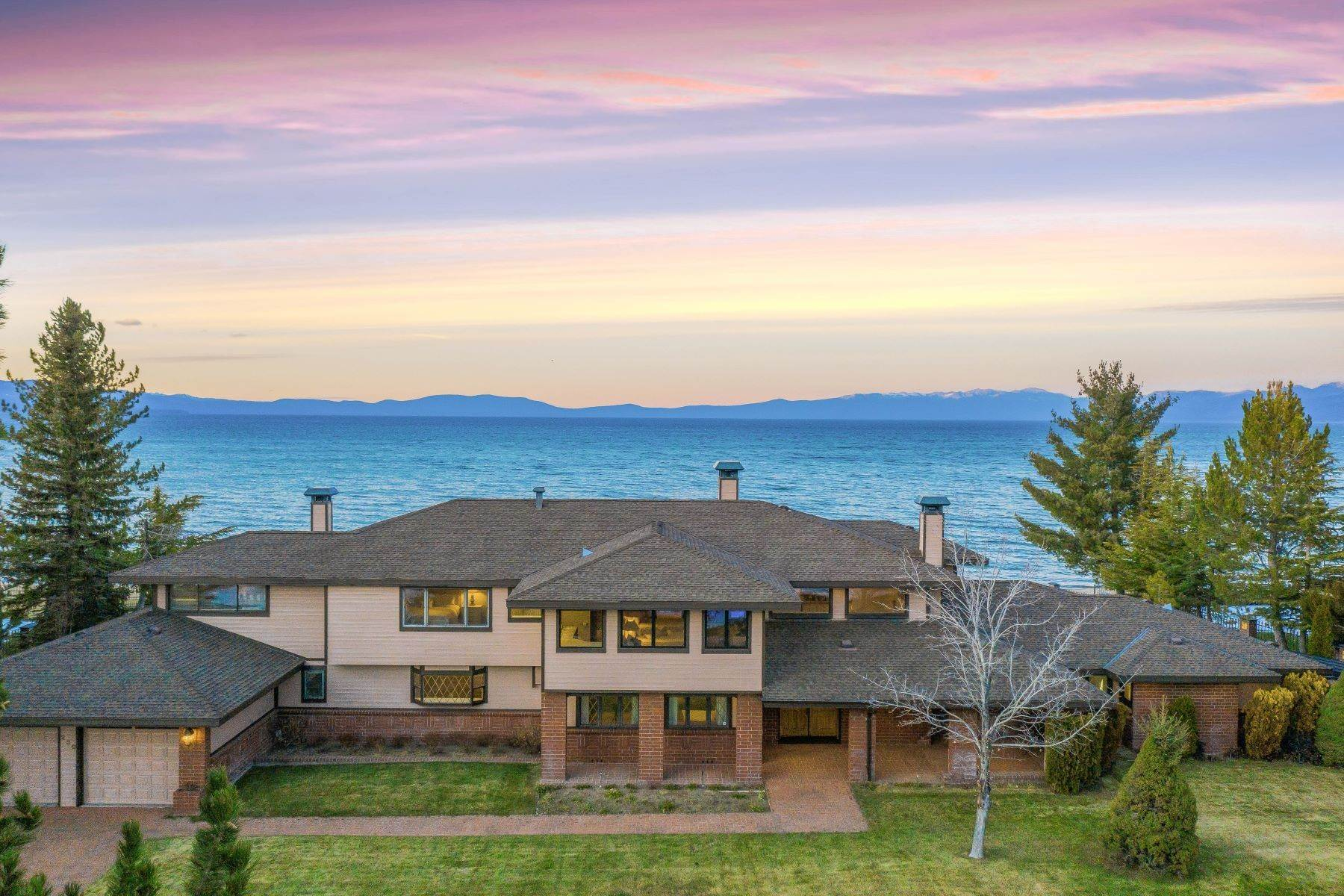 Single Family Homes for Active at Lake Tahoe Lakefront Estate 259 Beach Drive South Lake Tahoe, California 96150 United States