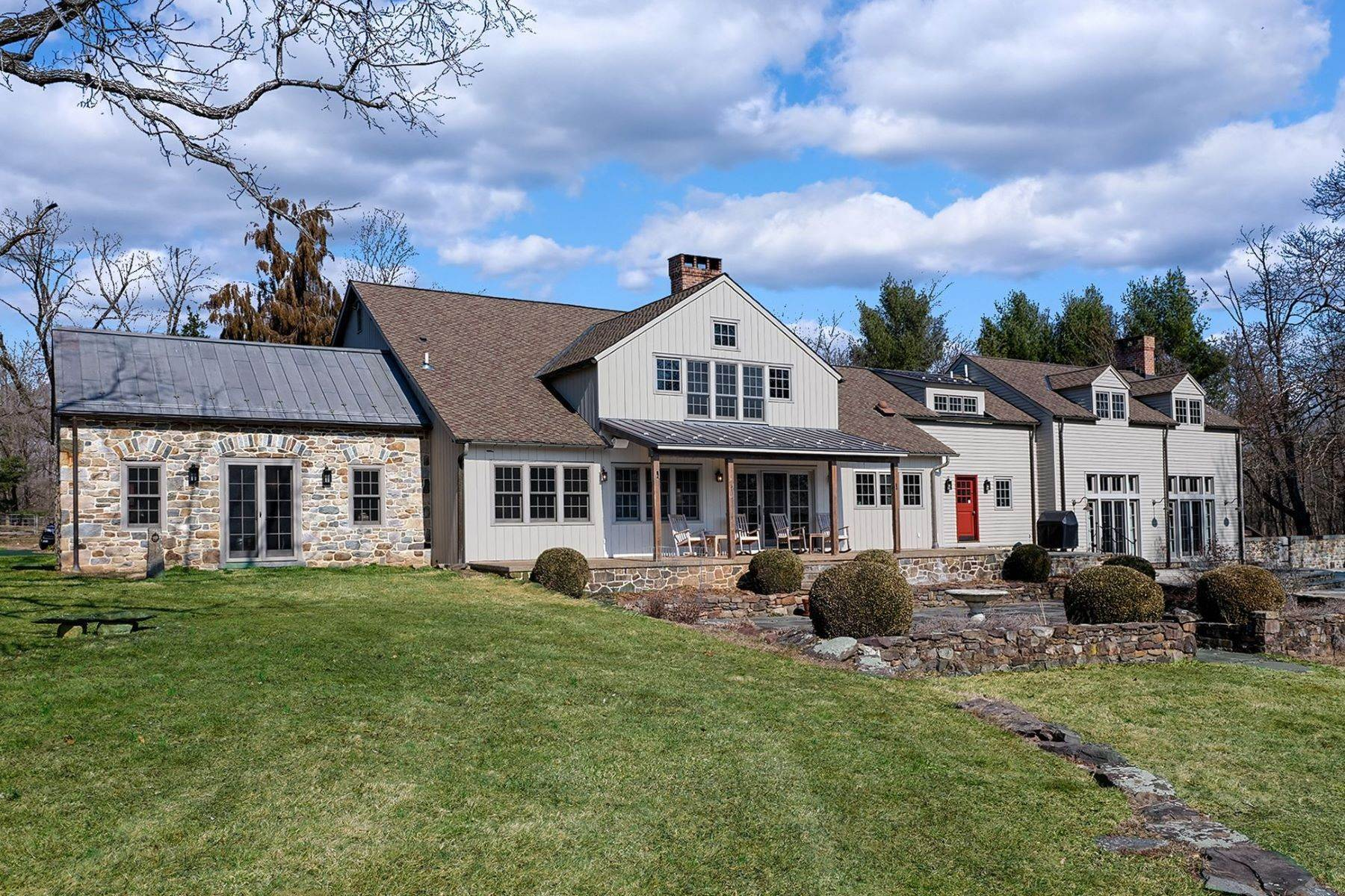 Farm and Ranch Properties for Active at Idyllic Historic Farm With Rich, Modern Finishes 111 East Prospect Street Hopewell, New Jersey 08525 United States