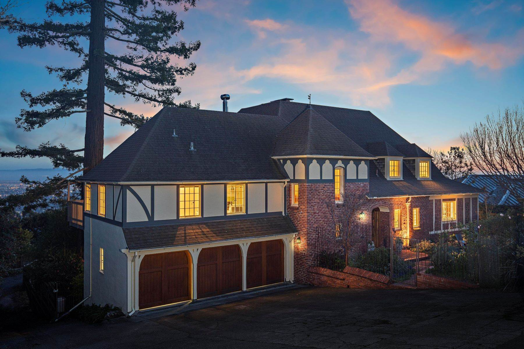 Single Family Homes for Active at Tudor Revival with Commanding Panoramic Views 96 Parnassus Road Berkeley, California 94708 United States
