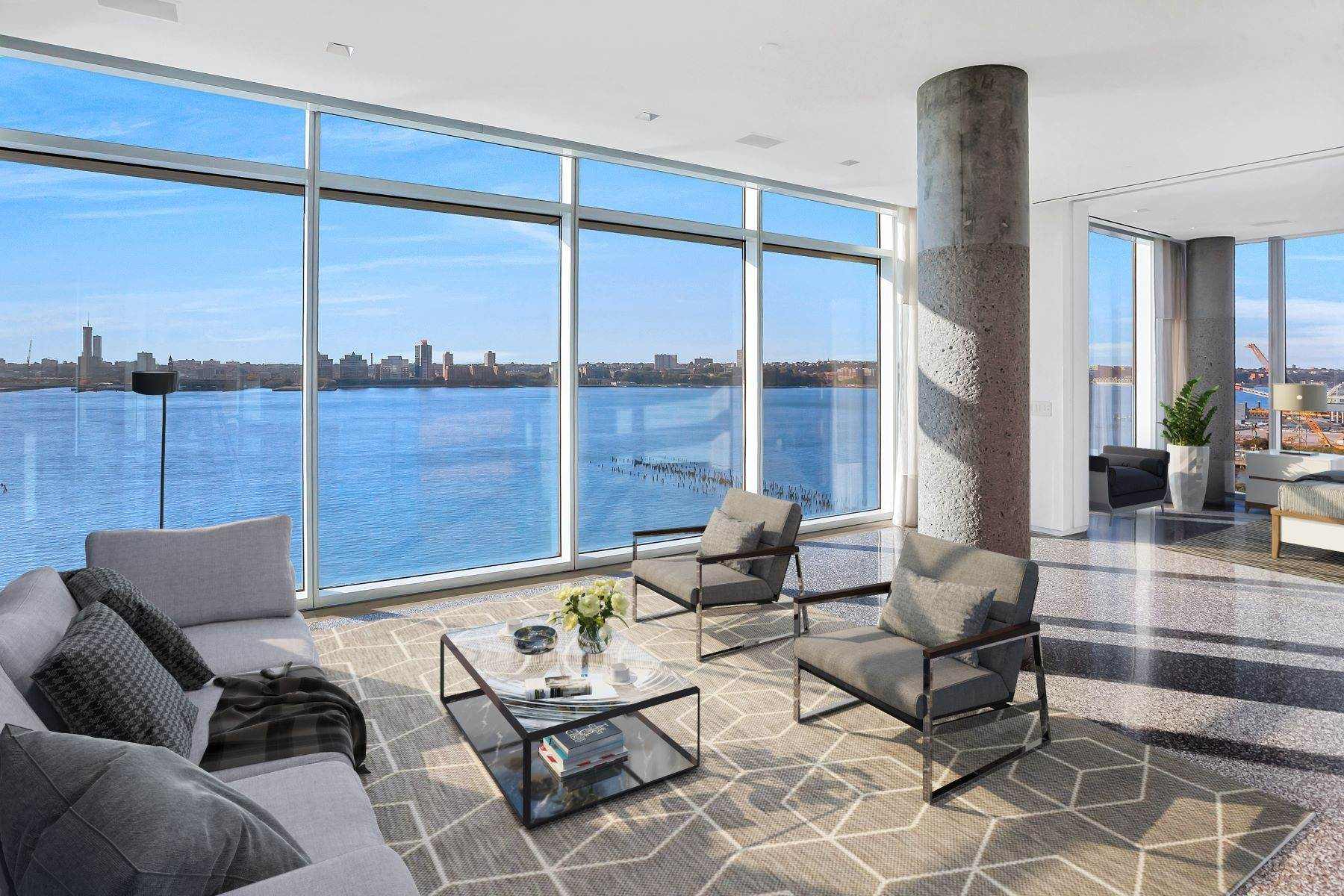 Condominiums for Active at Hudson River Designer Luxury Loft 173 Perry Street, Apt 11N New York, New York 10014 United States
