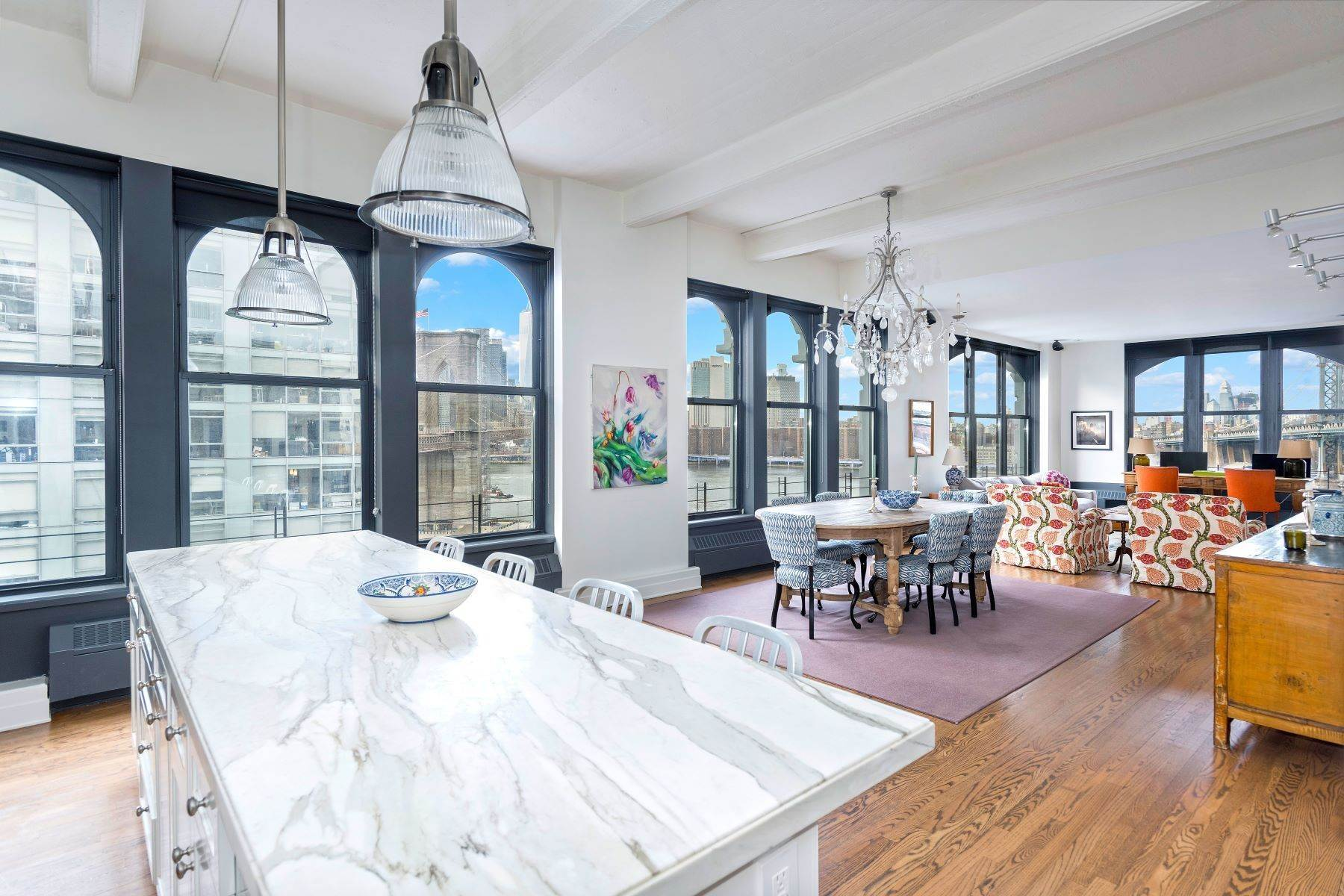 Condominiums for Active at Quintessential Corner Loft with Views 30 Main Street, Apt 11G Brooklyn, New York 11201 United States