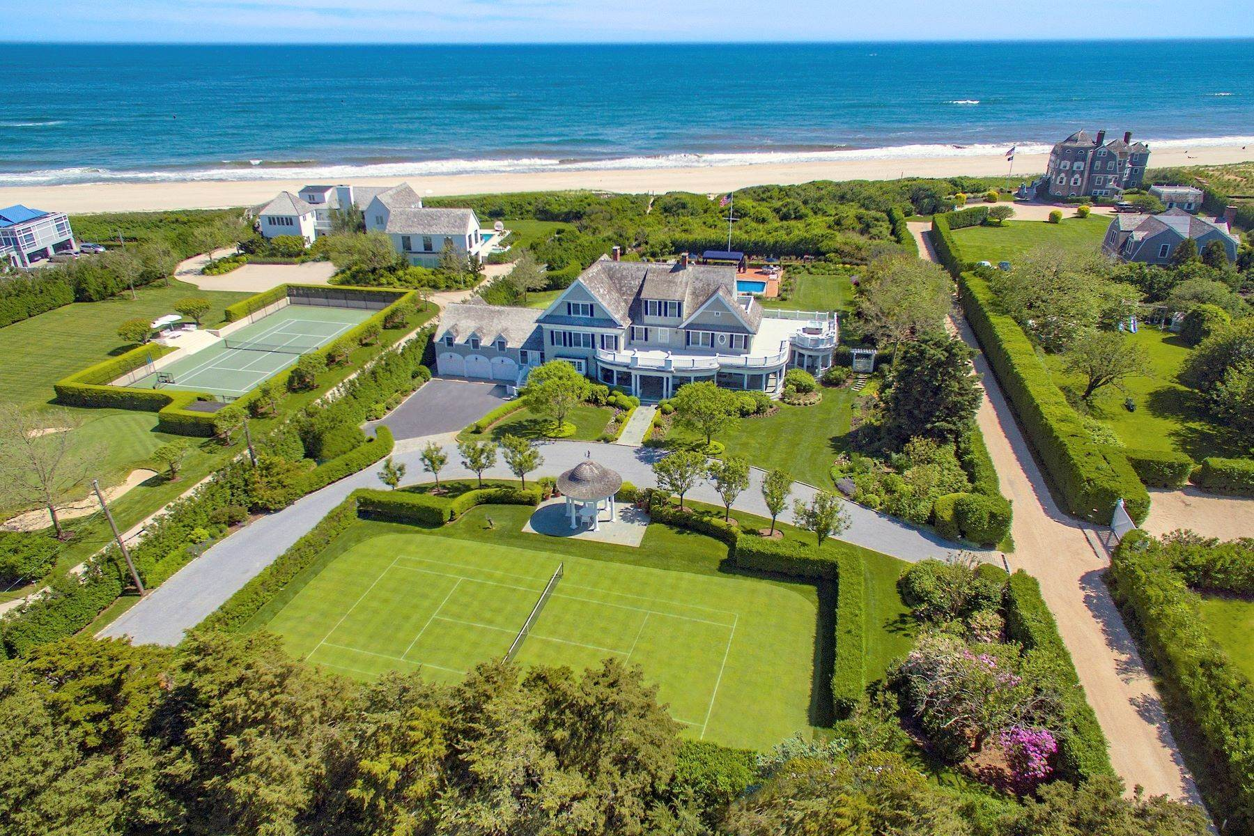 Single Family Homes for Active at 'Ocean Dream' Estate With Pool & Tennis 5 Fair Lea (Aka 36 Gin Lane) Southampton, New York 11968 United States