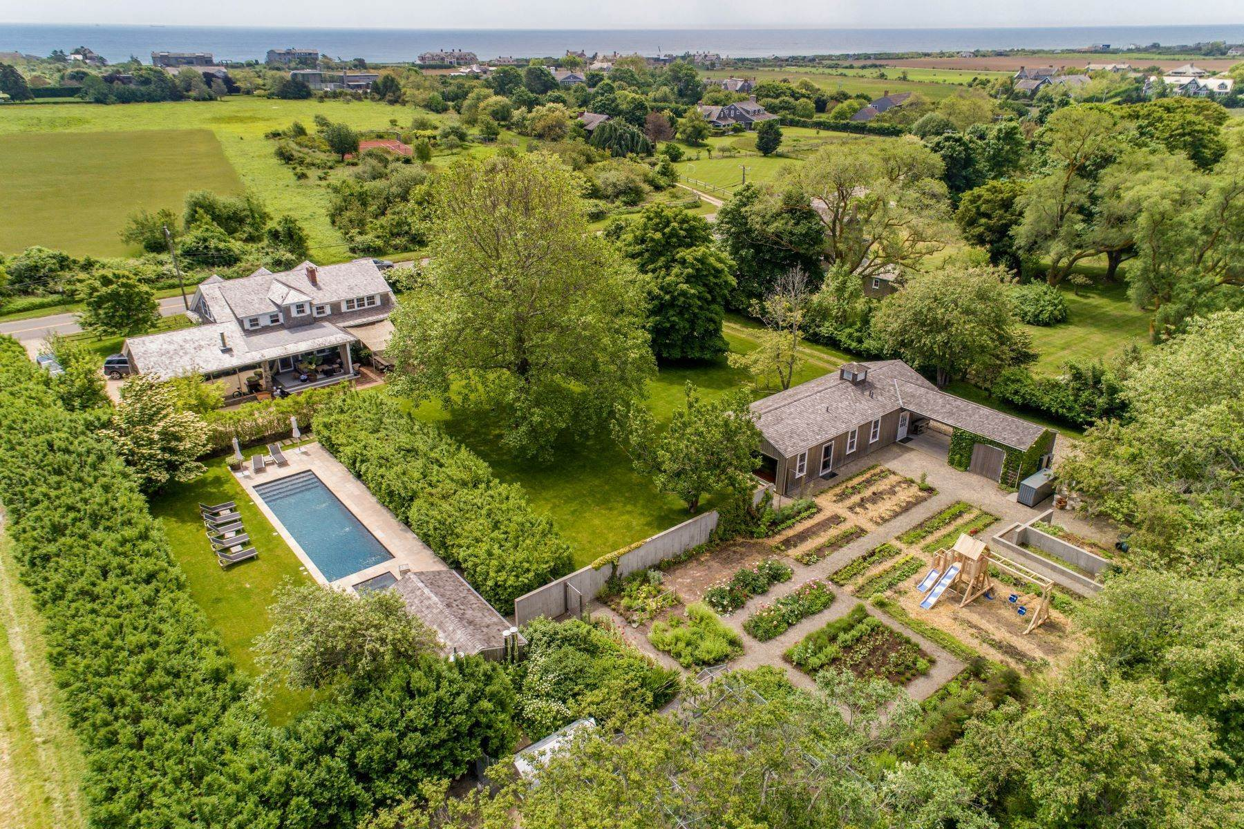 Single Family Homes for Active at Ultimate Farm Chic Compound 98 Daniels Lane Sagaponack, New York 11962 United States